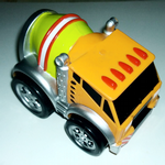 Kid Galaxy Squeezable pull back racers cement mixer truck